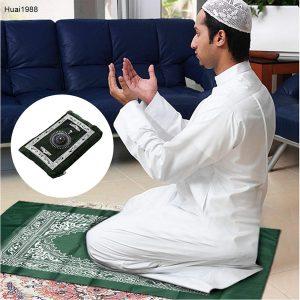 Le tapis de prière musulman avec boussole Huai1988