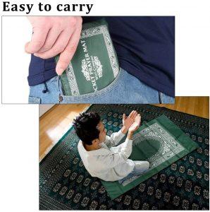 tapis de prière avec boussole